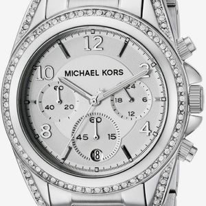 Micheal Kors Silver Watch With Bling
